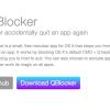 QBlocker - Command + Qで間違えて終了を防ぐことができるうっかり防止アプリ