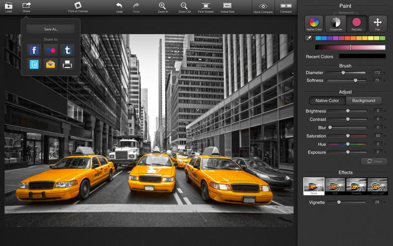 白黒画像を一部カラー化した写真を手軽に作成できる Colorstrokes が