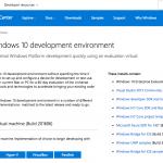 Microsoft、開発環境全部入りのWindows 10仮想マシンイメージを更新し2016年6月エディションを公開