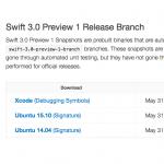Apple、開発者向けに「Swift 3.0 Preview 1」をリリース