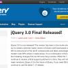 【速報】jQuery 3.0がリリース - 古いIE用コードが削除された新バージョン