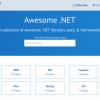 Awesome .NET – クールな.NETライブラリ、ツール、フレームワークのコレクションサイト