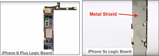 IPhone 5s metal shield