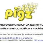 pigz - マルチプロセッサ・マルチコア対応で並列処理を行うモダンな爆速gzip実装