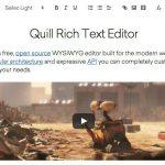 Quill - オープンソースのWYSIWYGエディタ