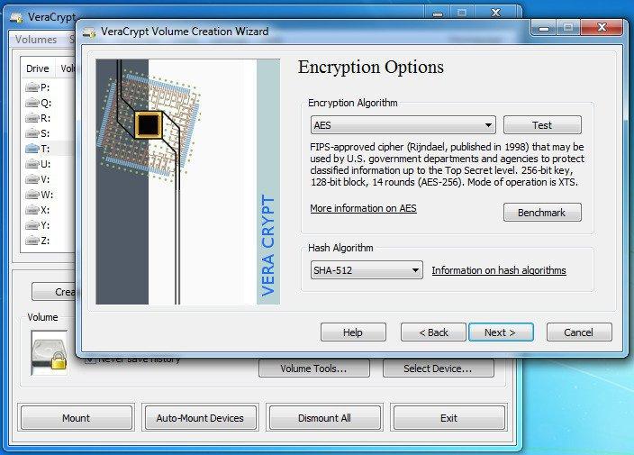 VeraCrypt Creating Volume