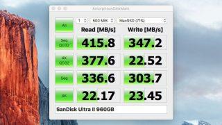 AmorphousDiskMark - 待望のMac版CrystalDiskMark