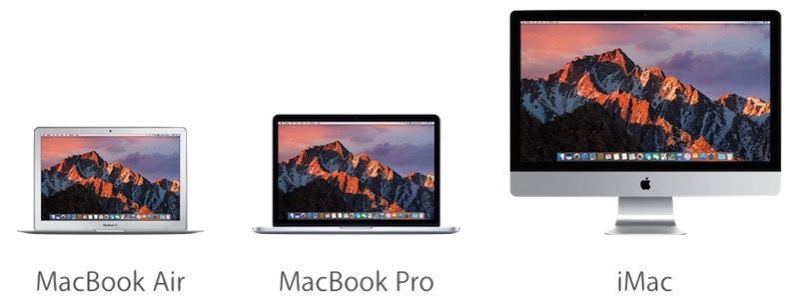 Macbook air pro imac 800x305