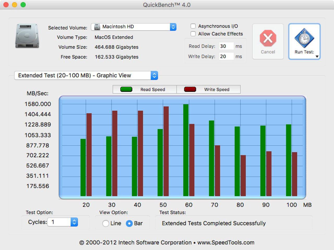 2016 macbook 1222 retina quickbench ssd