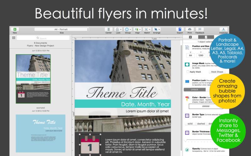 美しいフライヤーを手軽に作成できるデザインアプリ orion flyer maker