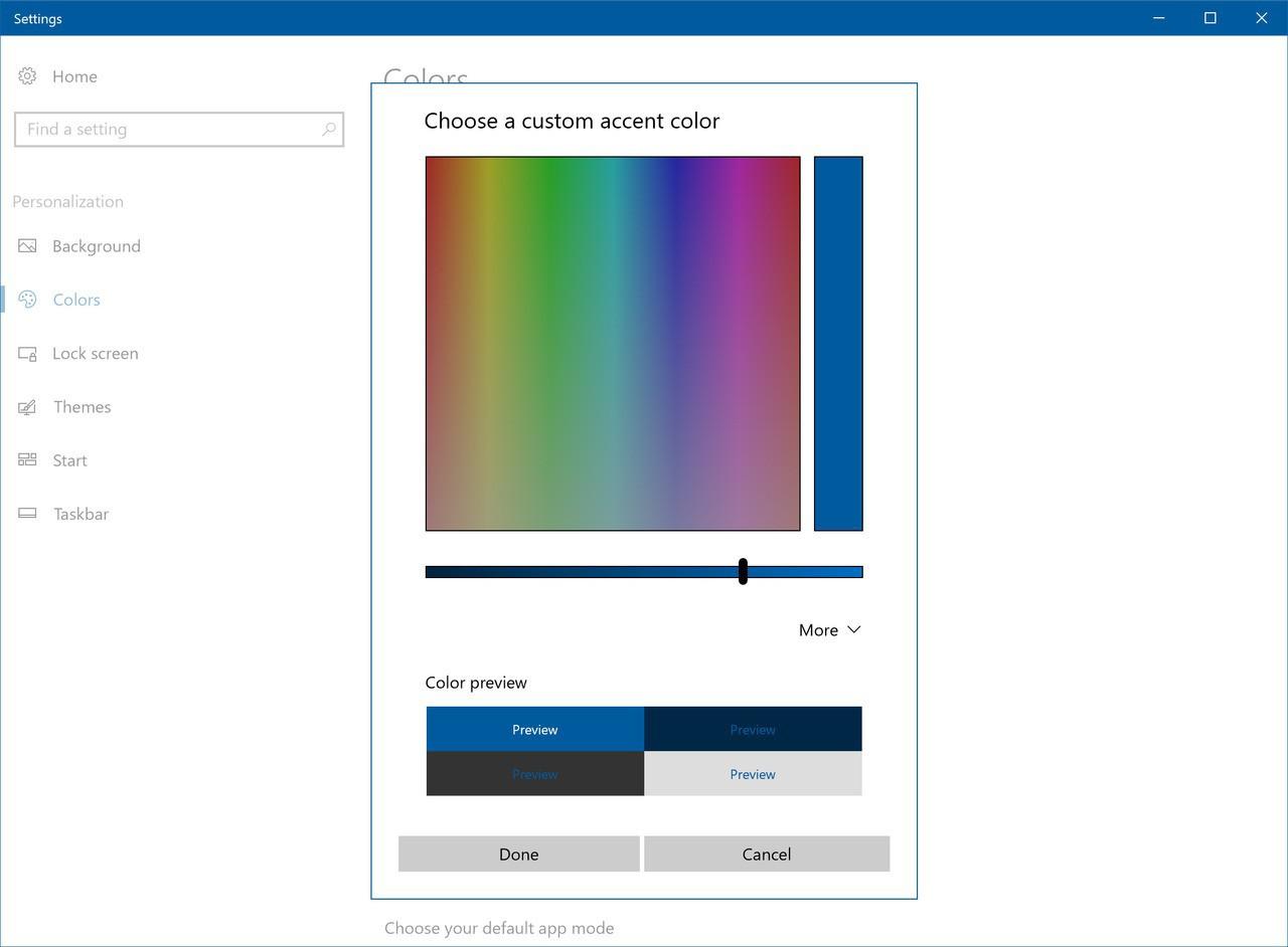 Accent color picker