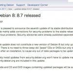 Debian 8.7がリリース