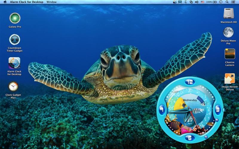 大きな盤面が特徴のアラーム時計ウィジェット alarm clock for desktop