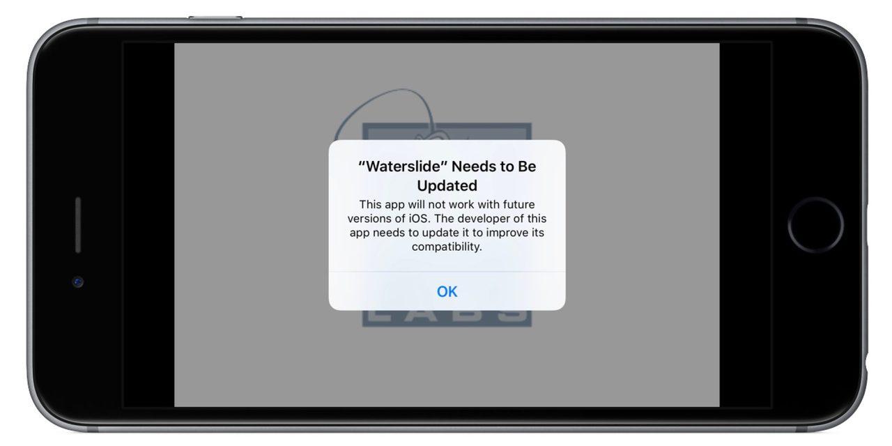 Ios 10 3 beta 1 32 bit app alert