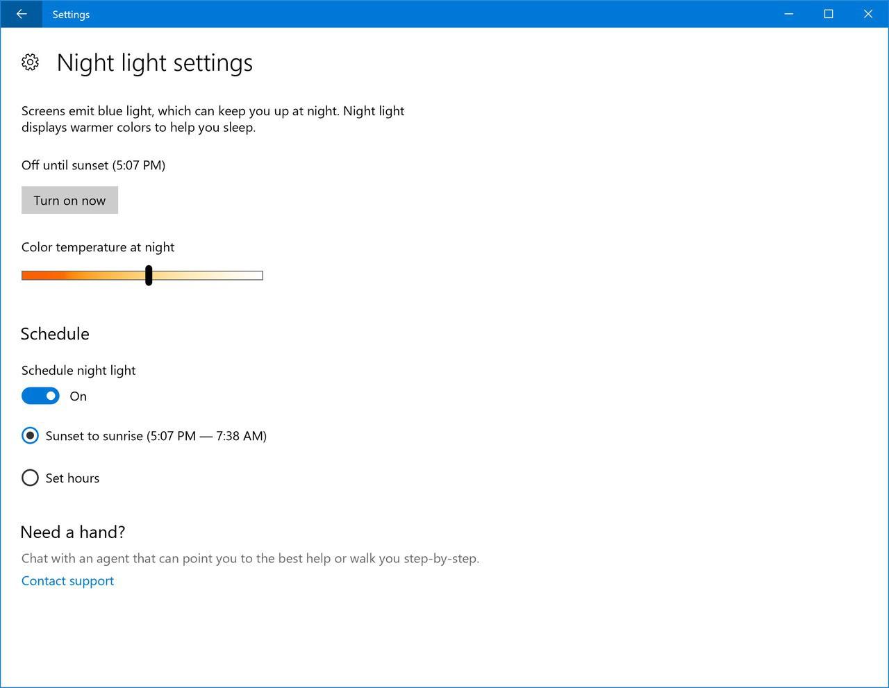 Night light improvements