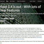 Haxe 3.4がリリース - HashLink/Lua/PHP7などを新たにターゲット言語としてサポート