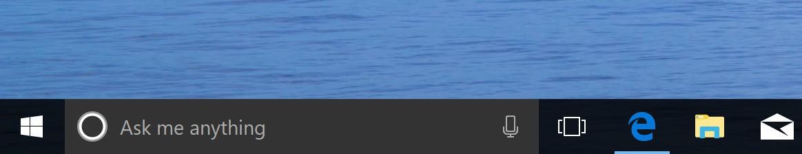 Cortana taskbar color