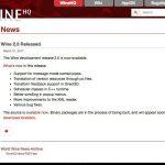 Wine 2.5開発版がリリース - Direct3DのTransform feedbackをサポート