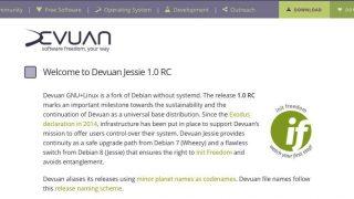 Devuan 1.0 RCがリリース - systemdが取り除かれたDebianフォーク
