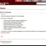 Wine 2.7開発版がリリース - HiDPIサポートが改善するなど