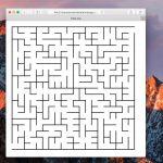 Maze generator - 異なる形状、サイズの迷路を作成できるコマンドラインツール
