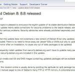 Debian 8.8がリリース