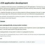Secure iOS application development - 安全なiOSアプリを開発したい方必見のドキュメント