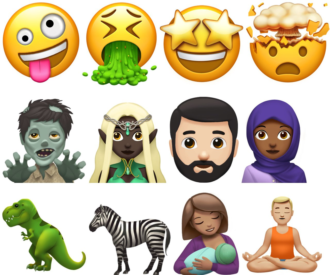 Apple emoji fall 2017 preview