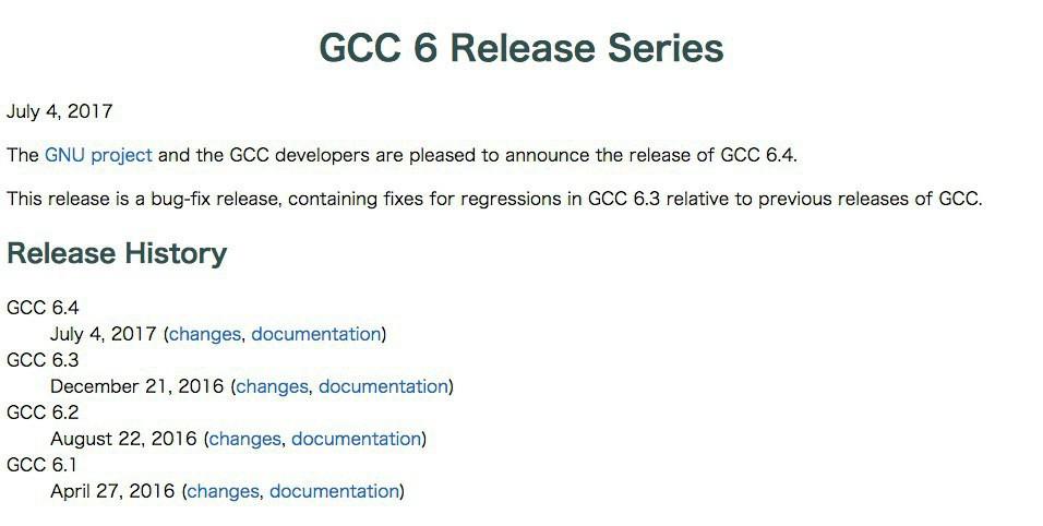 GCC 6.4がリリース - GCC 6系の...