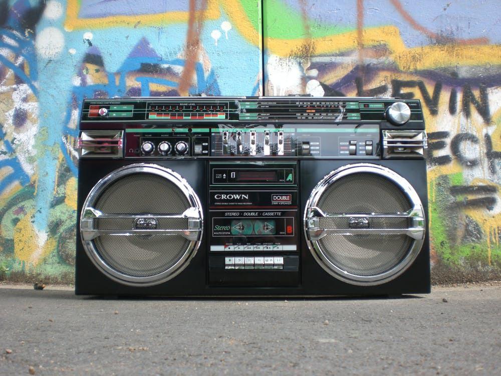 Ghettoblaster radio recorder boombox old school 159613