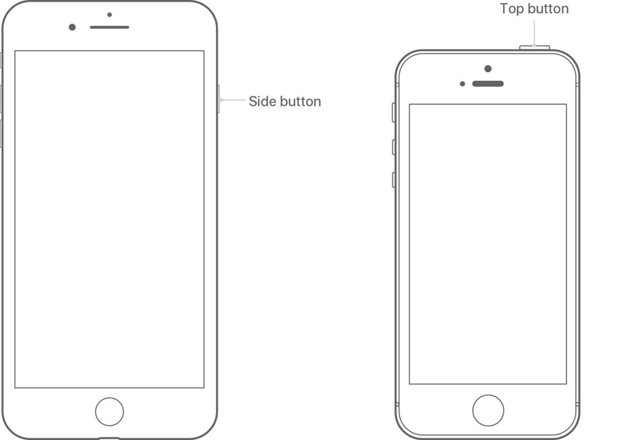 Restart iphone7 iphoneSE buttons switches tech spec