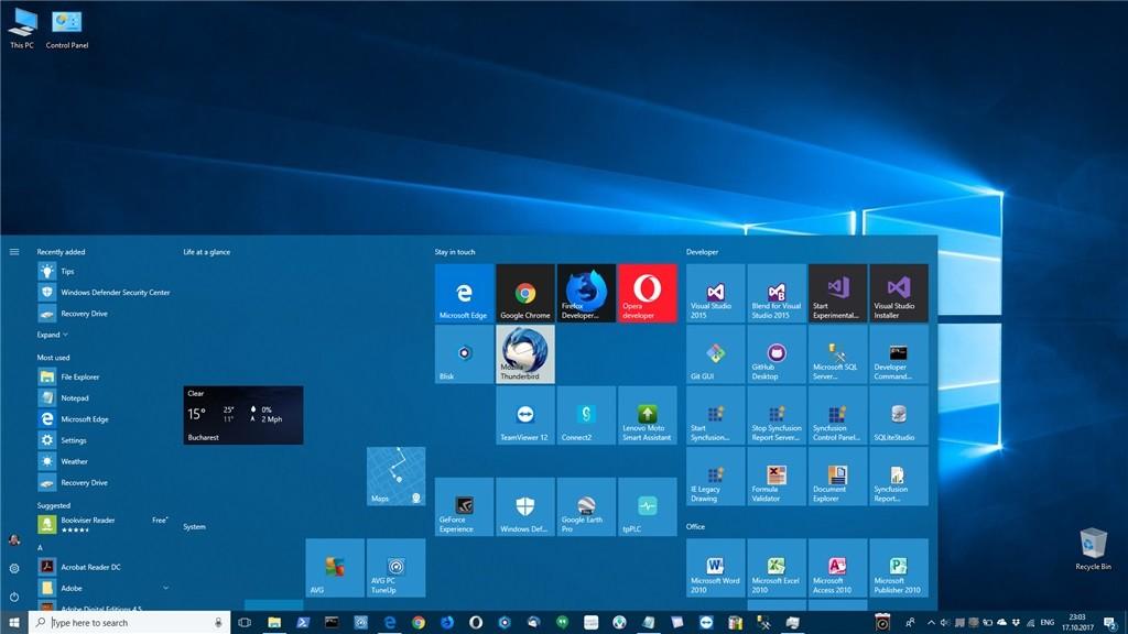 Start menu broken down after upgrading to windows 10 fall creators update 518093 2