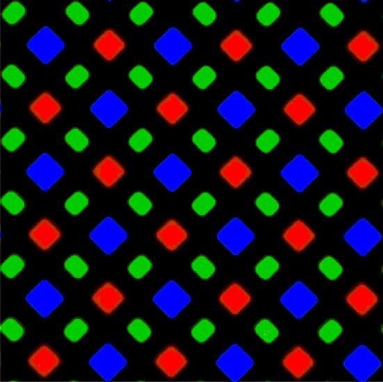 Iphone x diamond subpixels