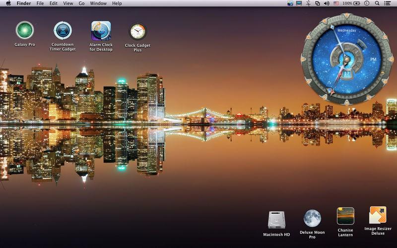 大きな盤面のアラーム時計ウィジェット alarm clock for desktop が120