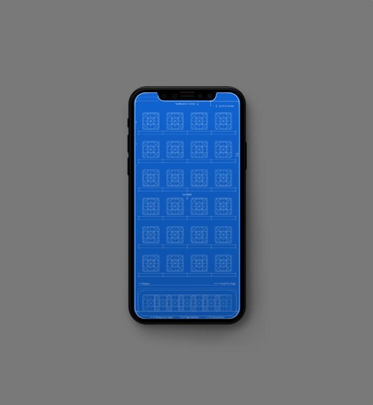X monitor grids blue mock up 768x833