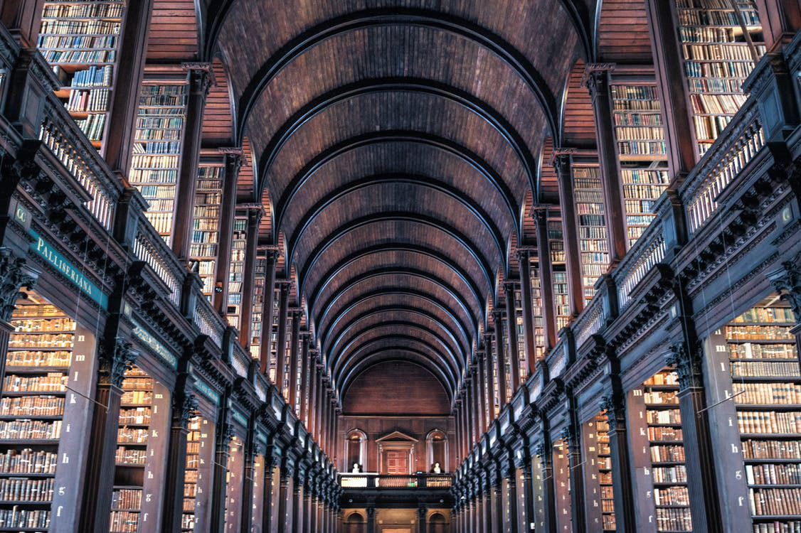 Books shelves architecture wood 442420