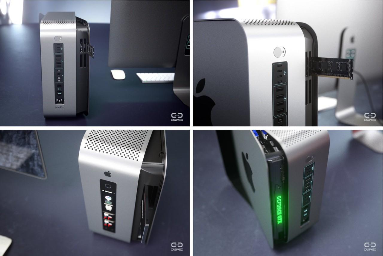 Concept modular Mac Pro edge to edge apple display Curved 016