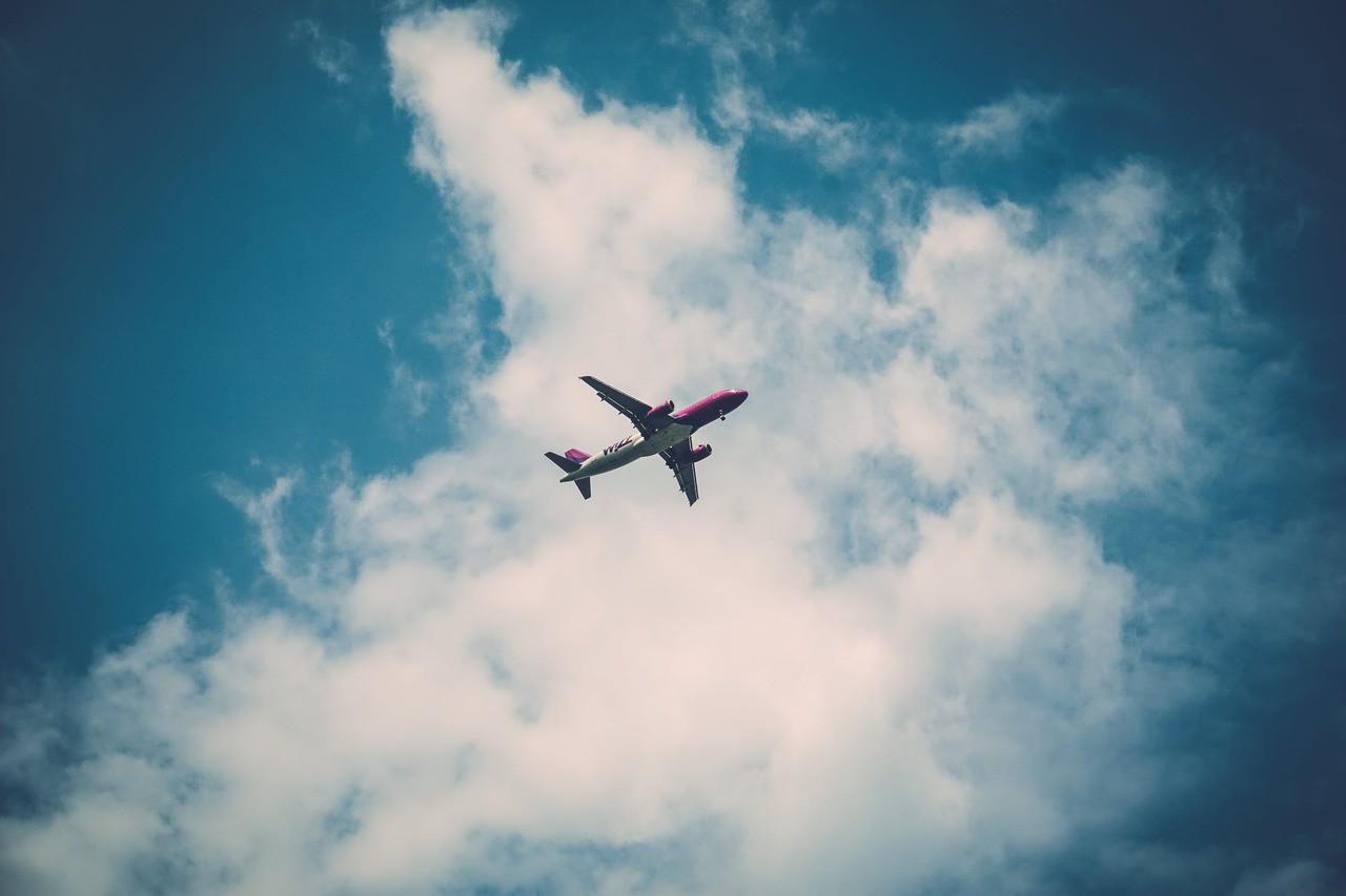 Flight sky clouds fly