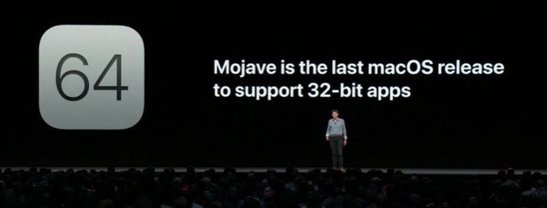Mojave 32 bit apps 800x305