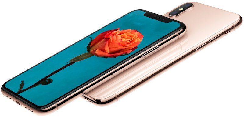 Gold iphone x 800x389
