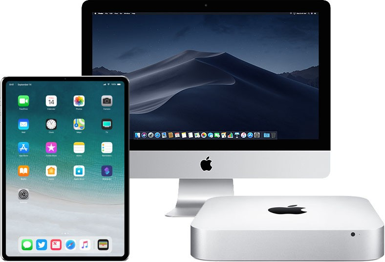 Ipad pro face id imac mac mini
