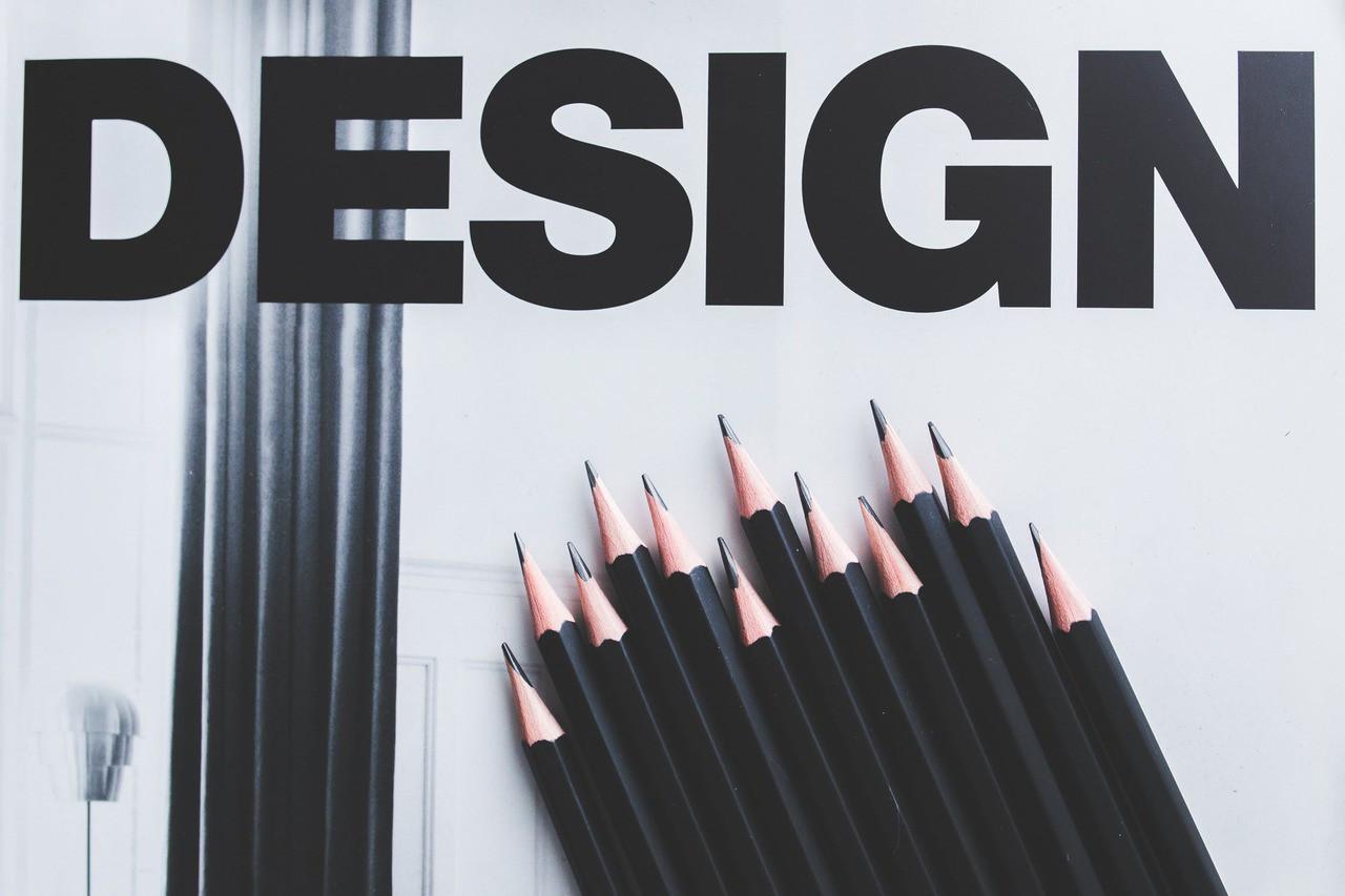Pencil typography black design