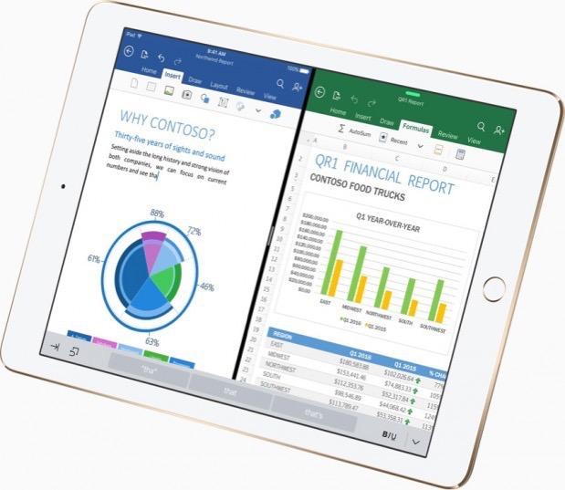 Apple iPad Pro Microsoft Office 620x537