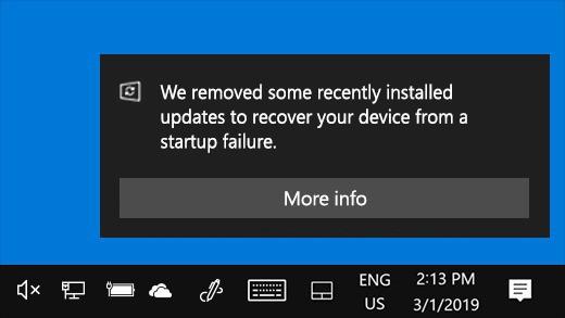 Windows 10 Uninstalling Updates
