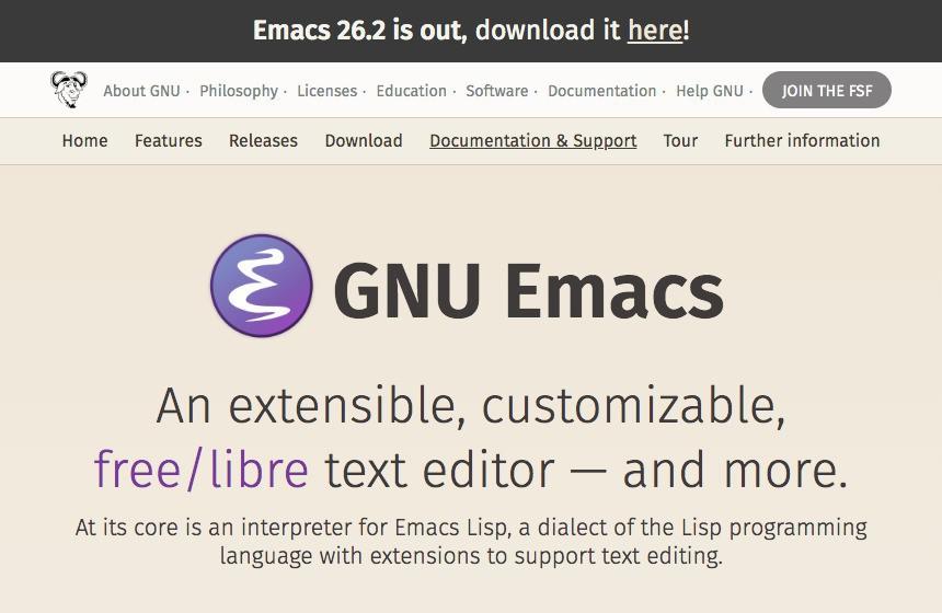 Emacs 26 2がリリース - Unicode 11 0がサポート | ソフト