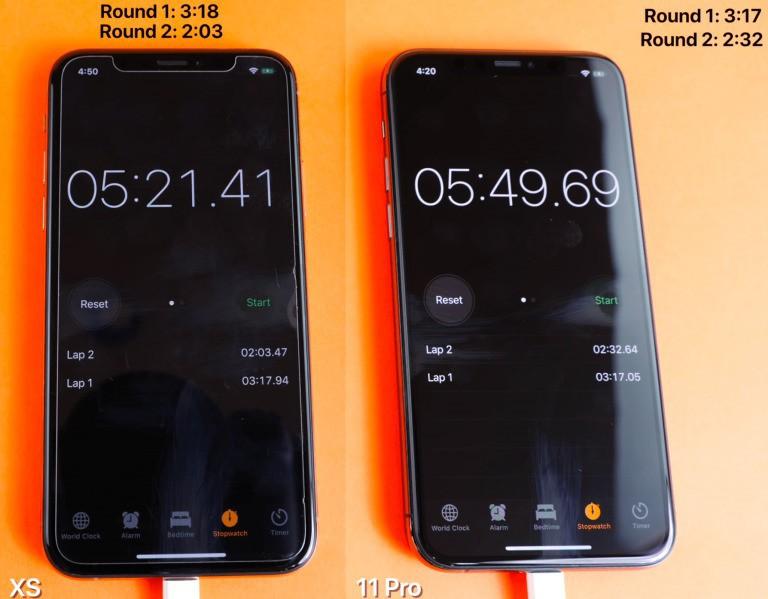 IPhone XS vs iPhone 11 Pro 768x599