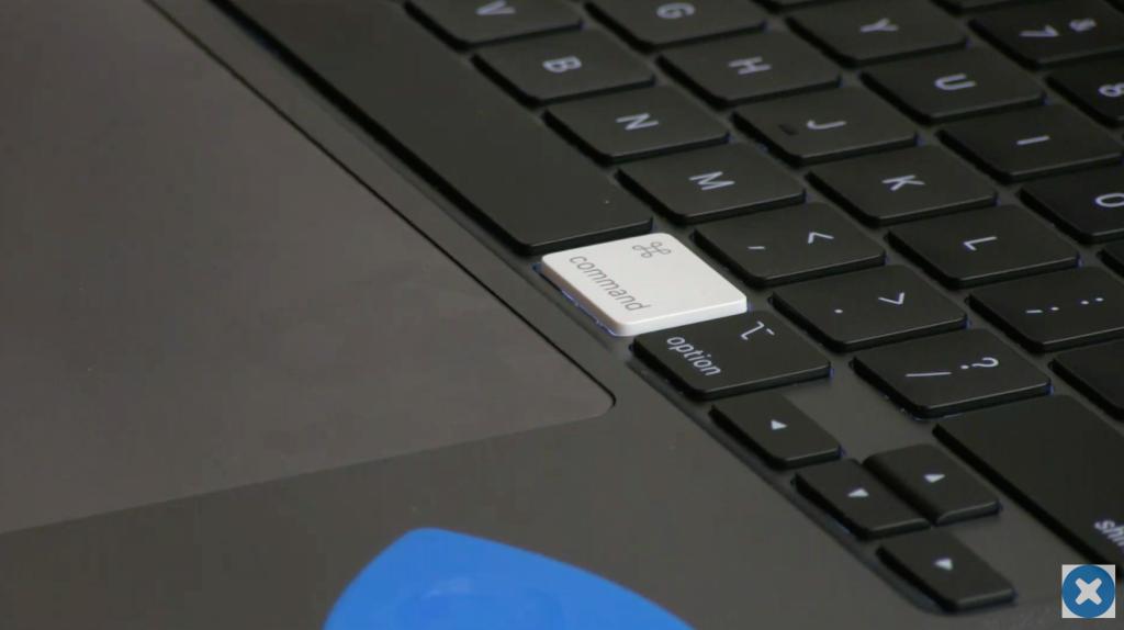 16 inch macbook pro keyboard teardown ifixit