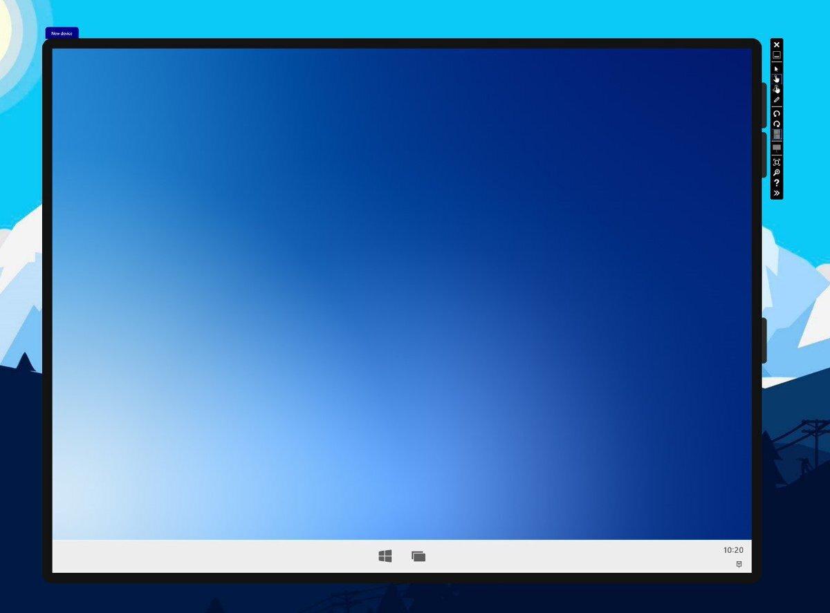 Windows10x single screen