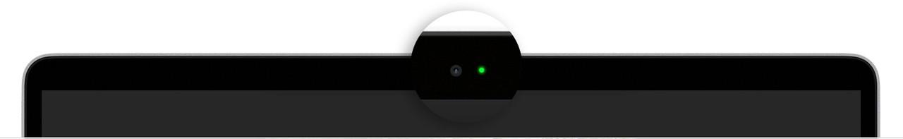 Macbook air camera indicator light