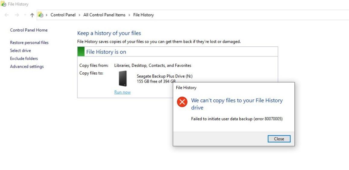 File History tool